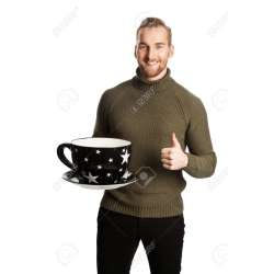 Stupendous Hing A Big Standing Laughing Man Wearing A Green Turtle Neck Sweater Stock Oversized Coffee Mugs Laughing Man Wearing A Green Turtle Neck Sweater furniture Oversized White Coffee Mugs