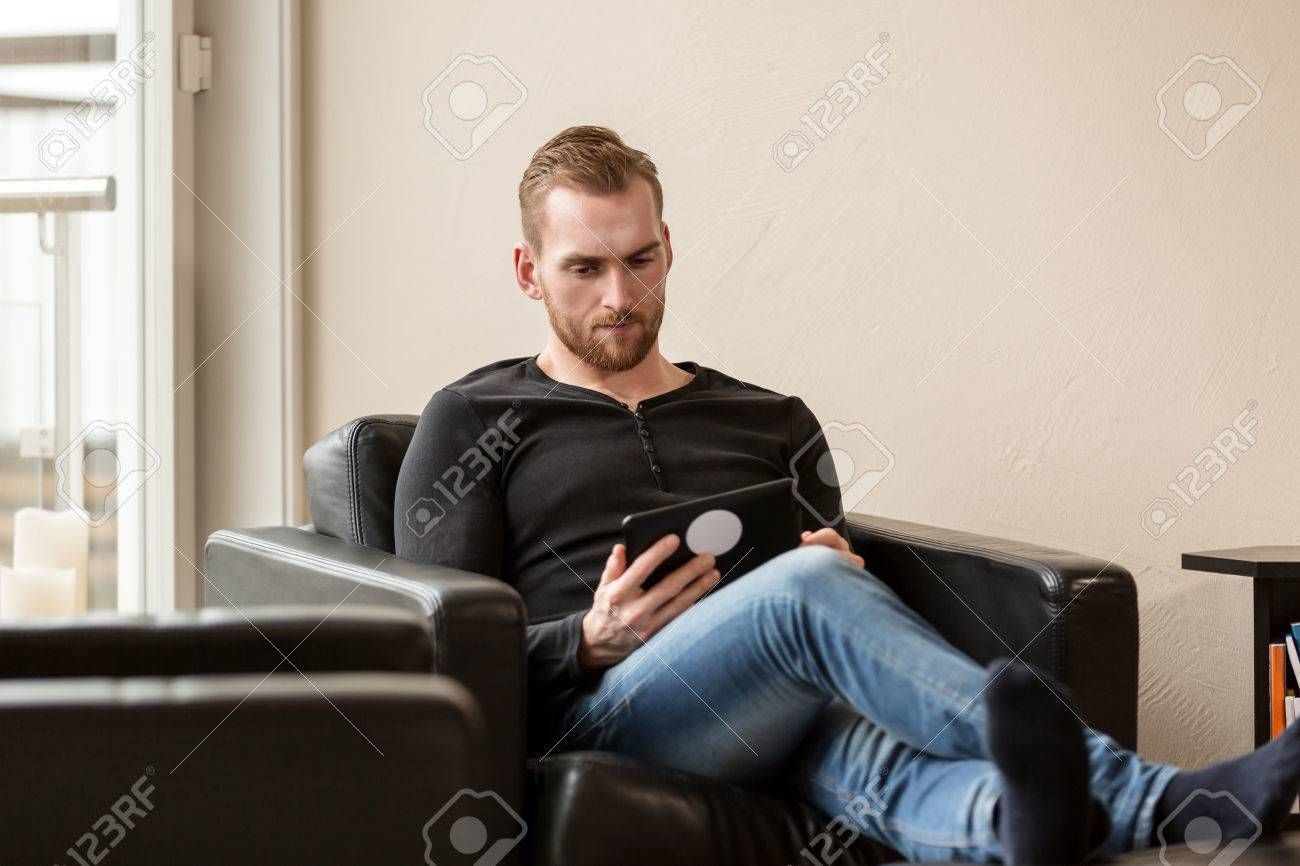 Laid Back Sessel Stock Photo