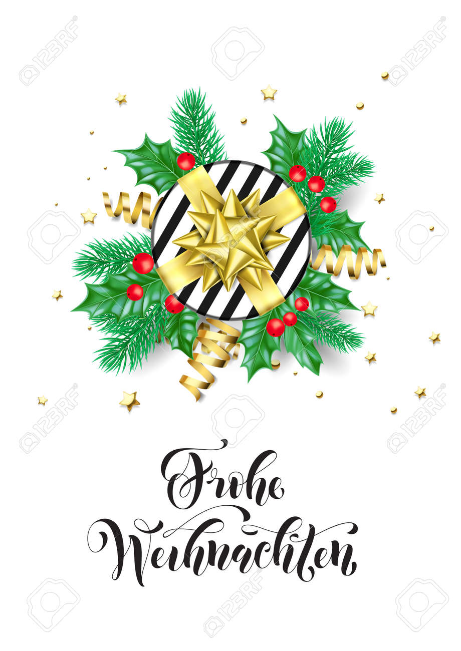 Design Weihnachten Merry Christmas German Frohe Weihnachten Holiday Hand Drawn Quote