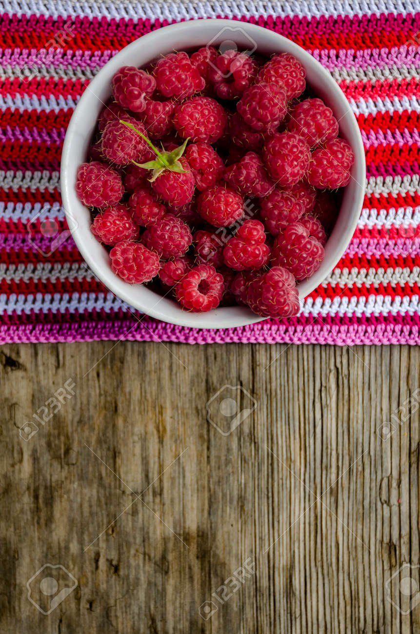 Himbeeren Häkeln Stock Photo