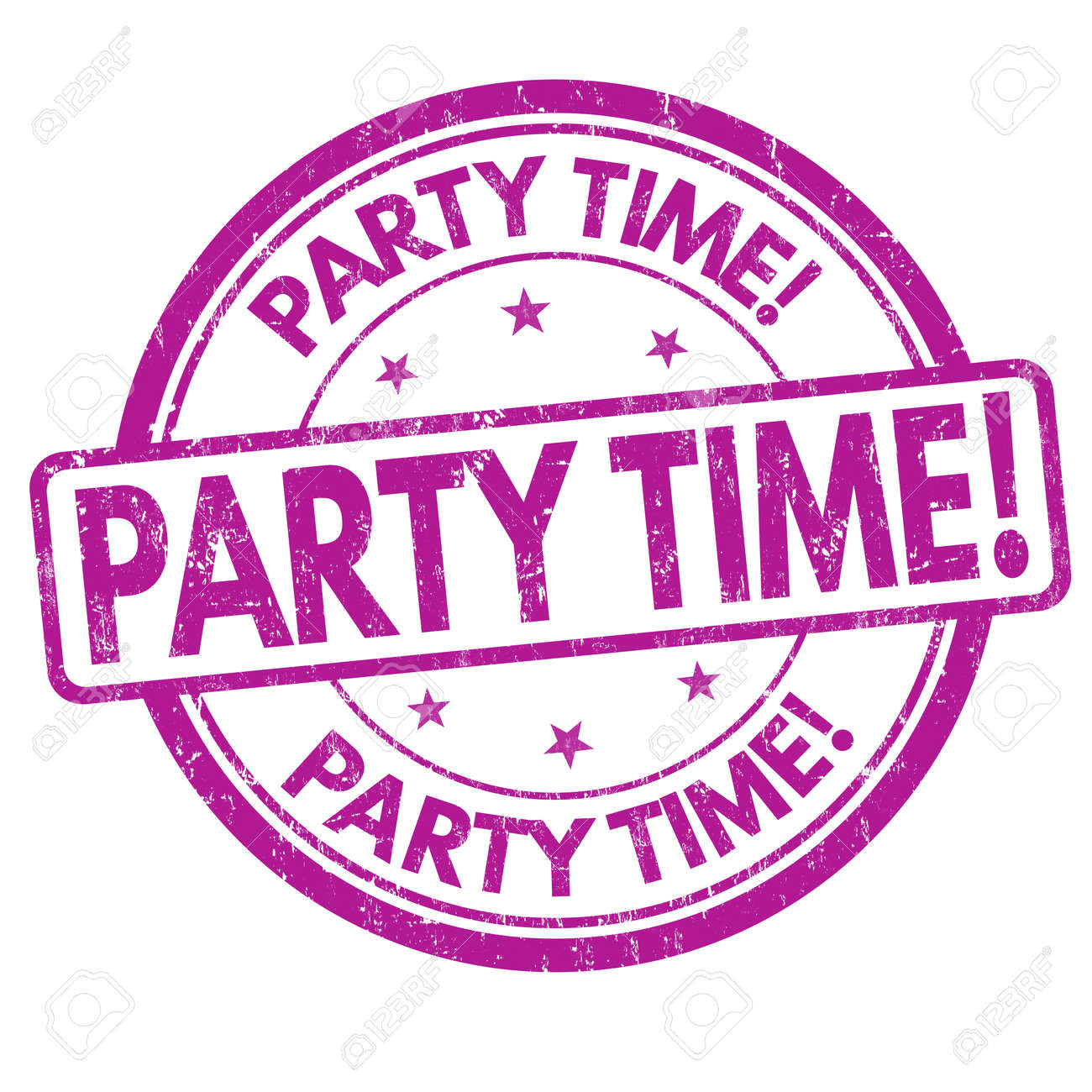 Party Time Party Time Grunge Rubber Stamp On White Background