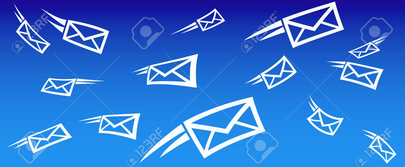 Email Background Concept With Flying Mail Royalty Free Cliparts - mail background