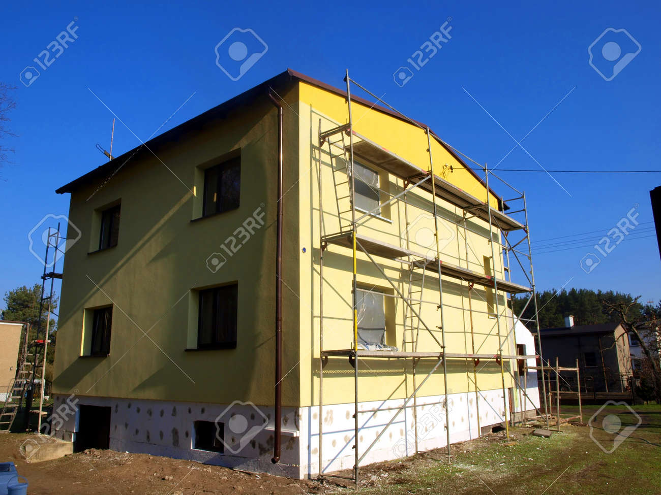 Renovation Facade Repair And Construction Thermal Insulation And Renovation Of