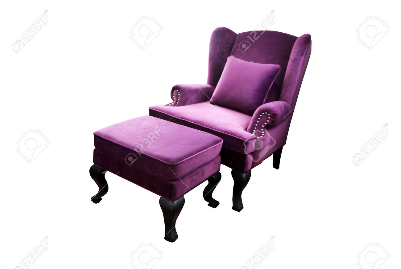 Lila Couch Purple Couch Isolated On White Background