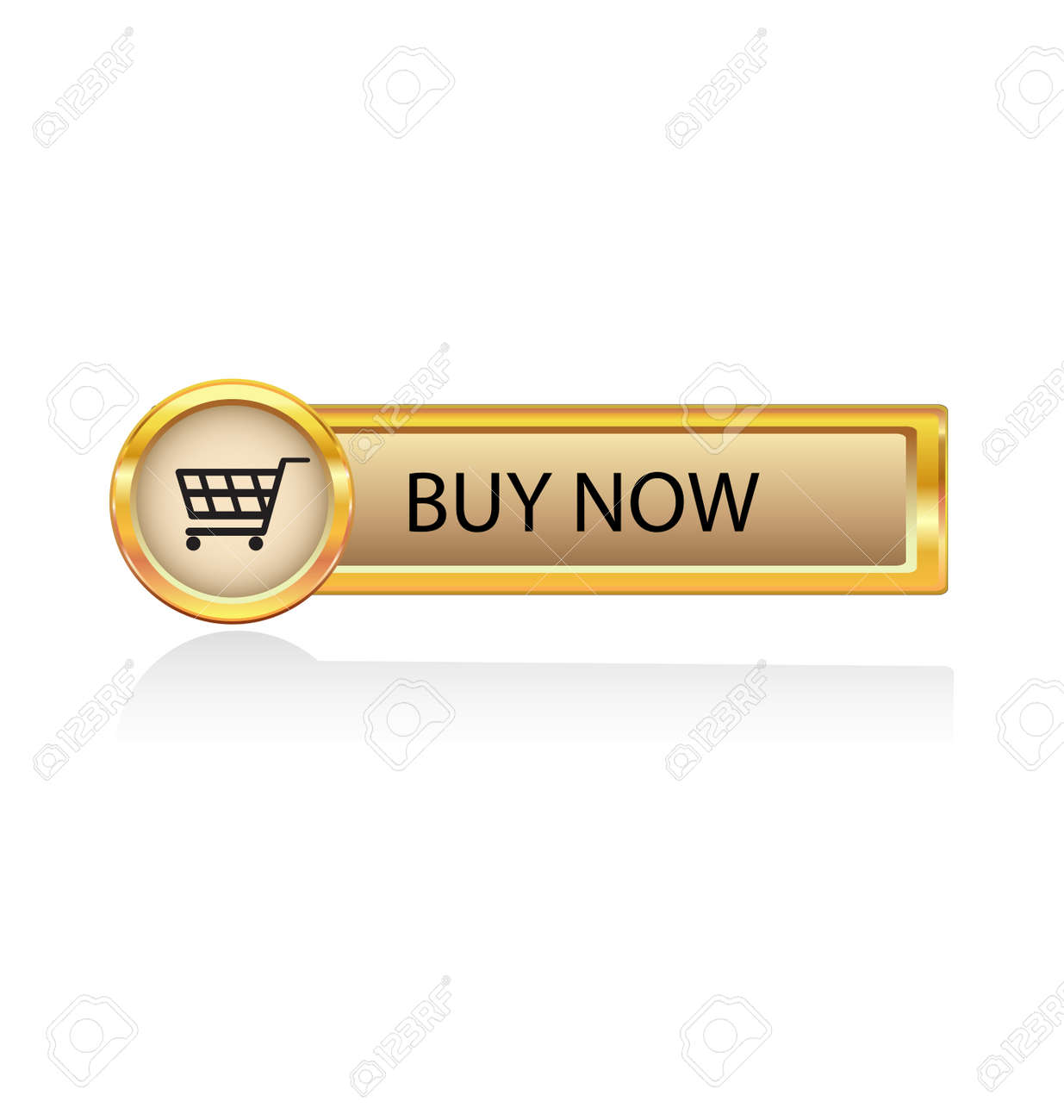 Gold button with buy symbol stock vector 6486360