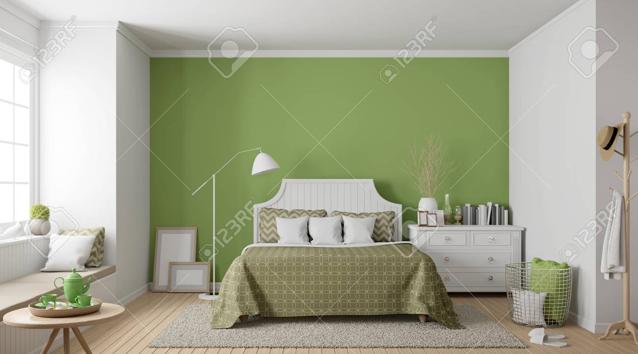 Schlafzimmer Vintage Modern Modern Vintage Bedroom 3d Rendering Image There Are Wood Floor