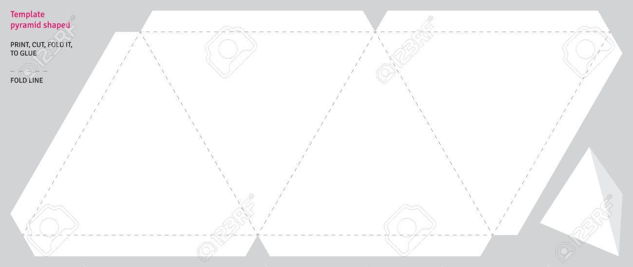 Template Pyramid Shaped, Vector Royalty Free Cliparts, Vectors, And