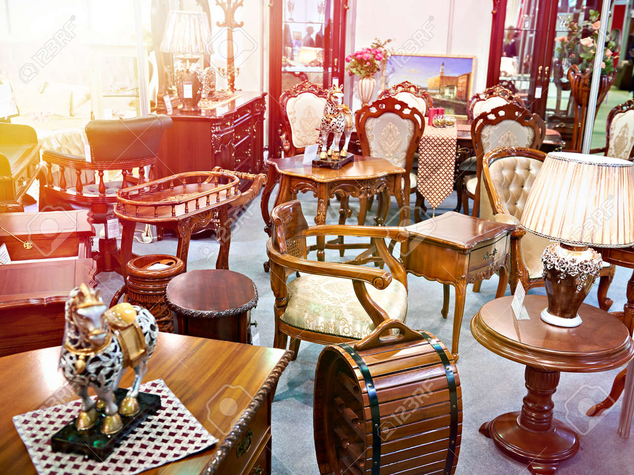 Antique Furniture Store With Wooden Goods Stock Photo Picture And Royalty Free Image Image 113006399