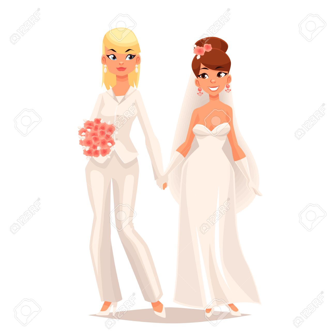 Hochzeit Comic Stock Photo