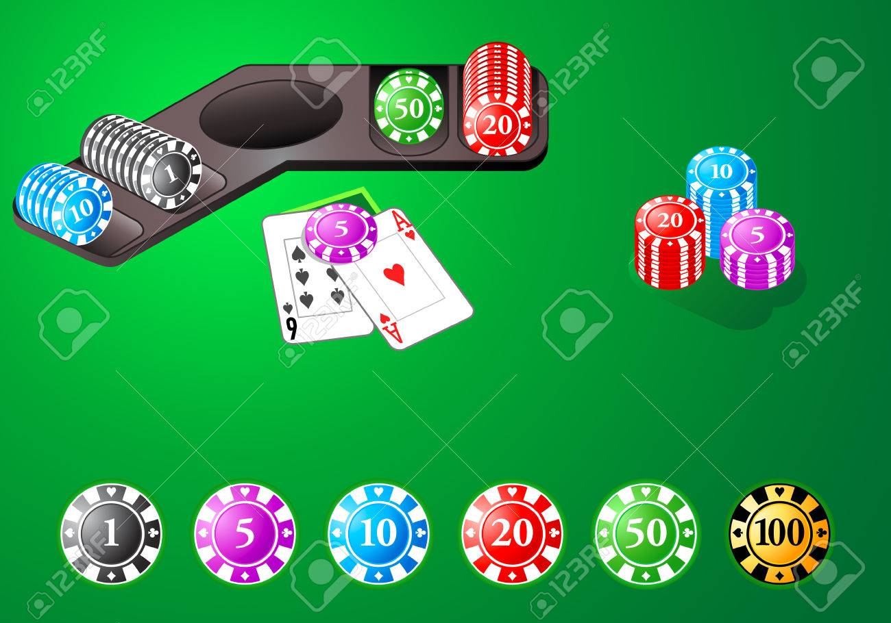 Blackjack table top view - Poker Table Top View Vector Casino Chips For Poker Blackjack And Other Table Games Stock Download