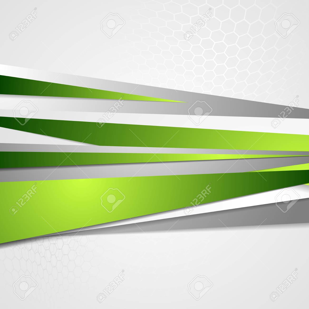 Corporate Graphic Design Abstract Green Grey Corporate Graphic Design Vector Background