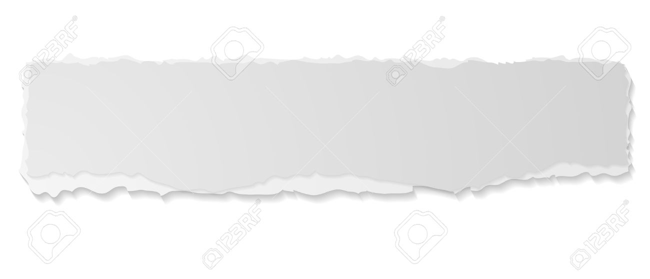 Grey Ripped Paper Edge Abstract Sticker Banner Vector Ragged