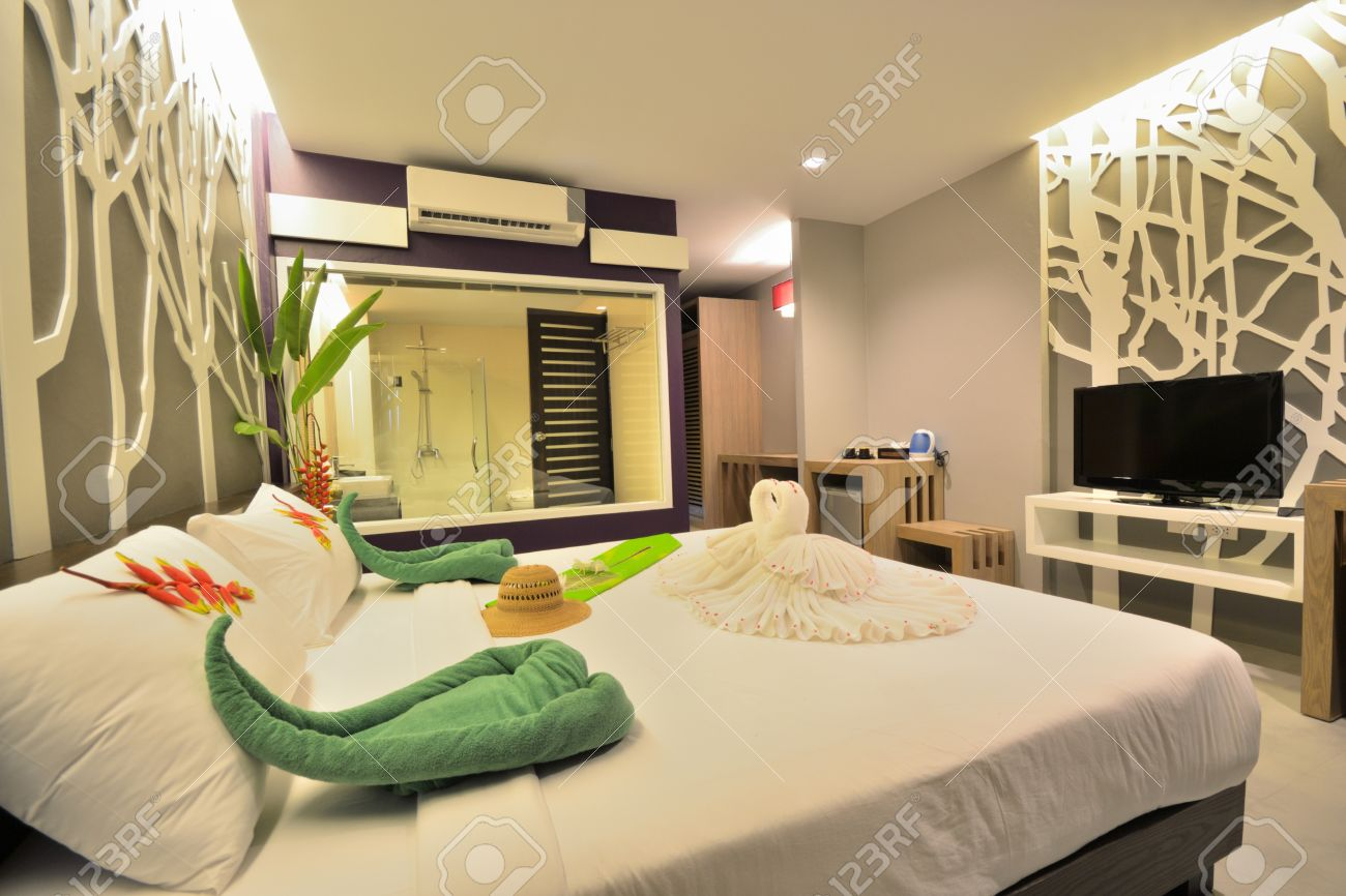 Innendesign Schlafzimmer Stock Photo