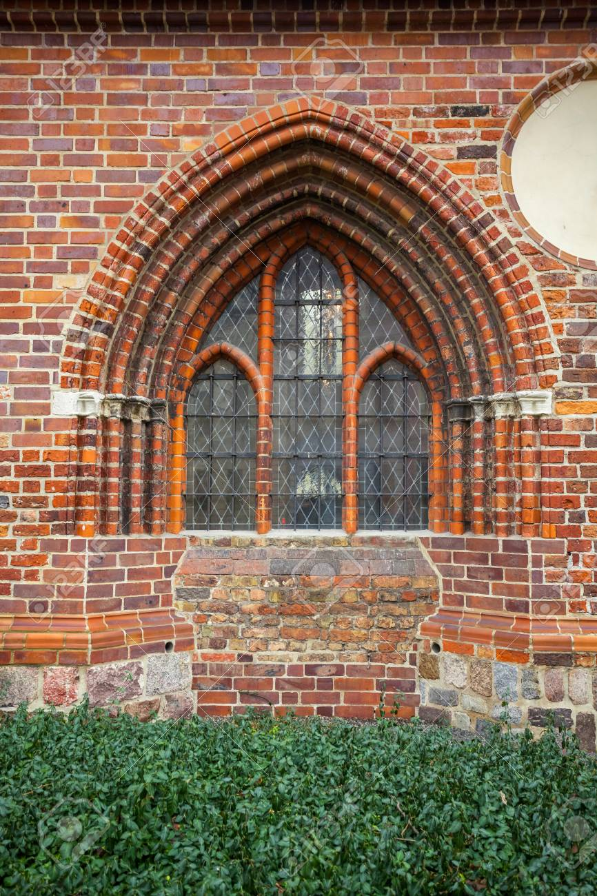 Berlin Gothic Window Of A Brick Gothic Building In Berlin Germany