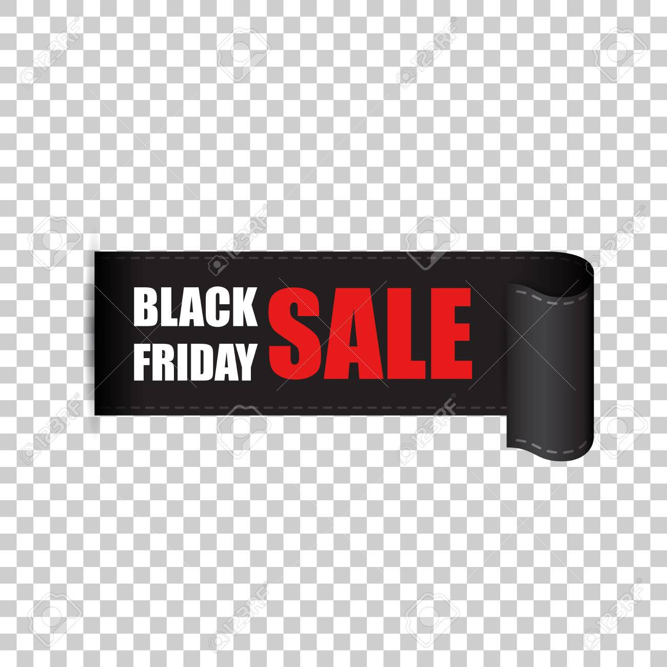 Black Sale Black Friday Sales Tag Discount Sticker Vector Illustration Clothes Food Electronics Cars Sale