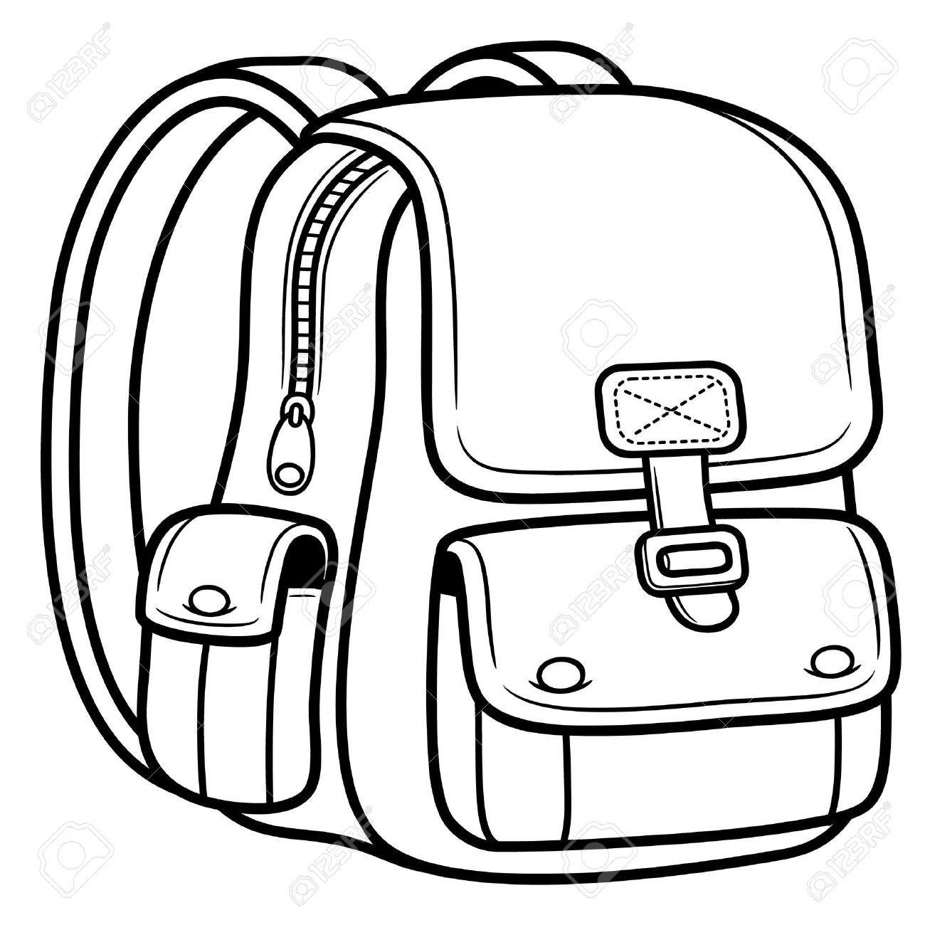 Vector vector illustration of school bag back to school