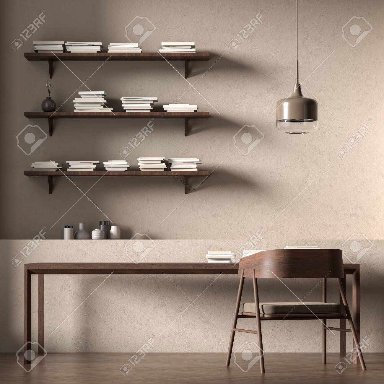 Scandinavian Style Interior With Modern Furnitures Minimalist Stock Photo Picture And Royalty Free Image Image 141338148