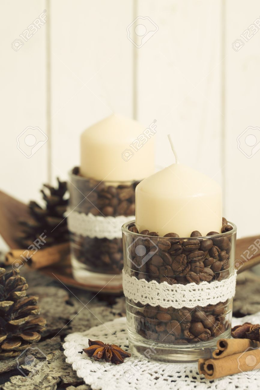 Deko Im Glas Ideen Weihnachten Stock Photo