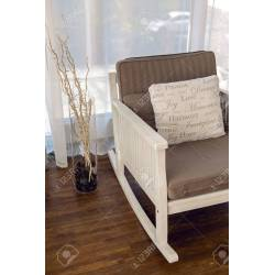 Small Crop Of White Rocking Chair