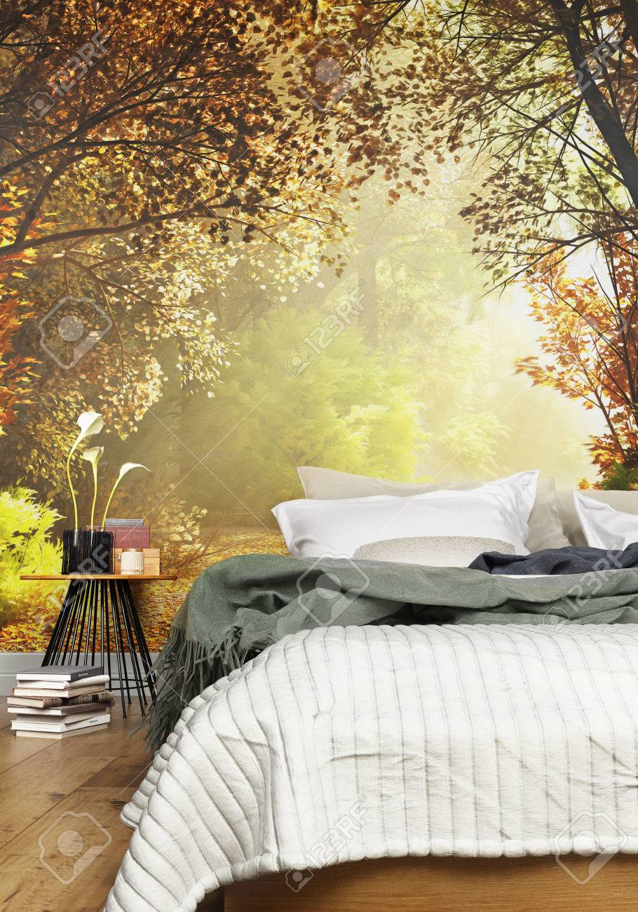 Tapete Schlafzimmer Natur Stock Photo