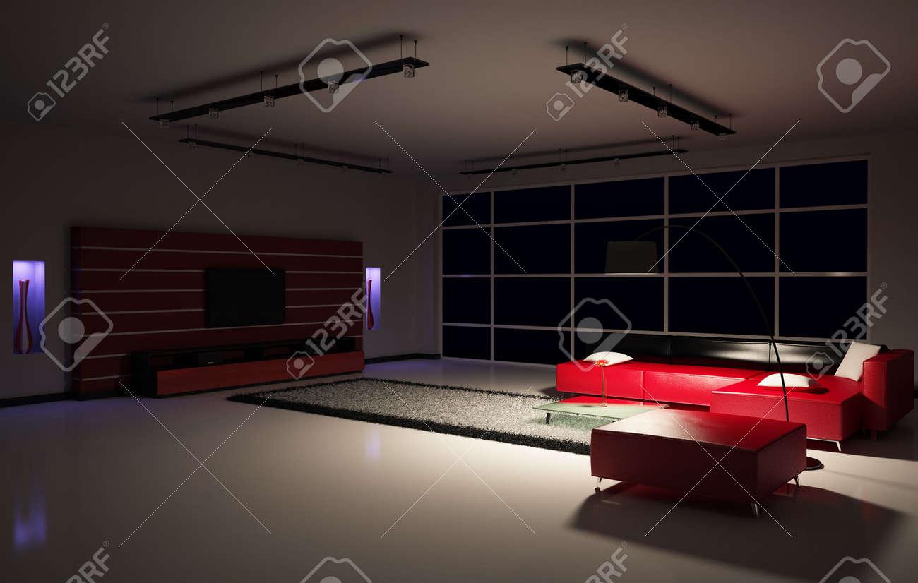 Dark Living Room At Night Dark Living Room At Night