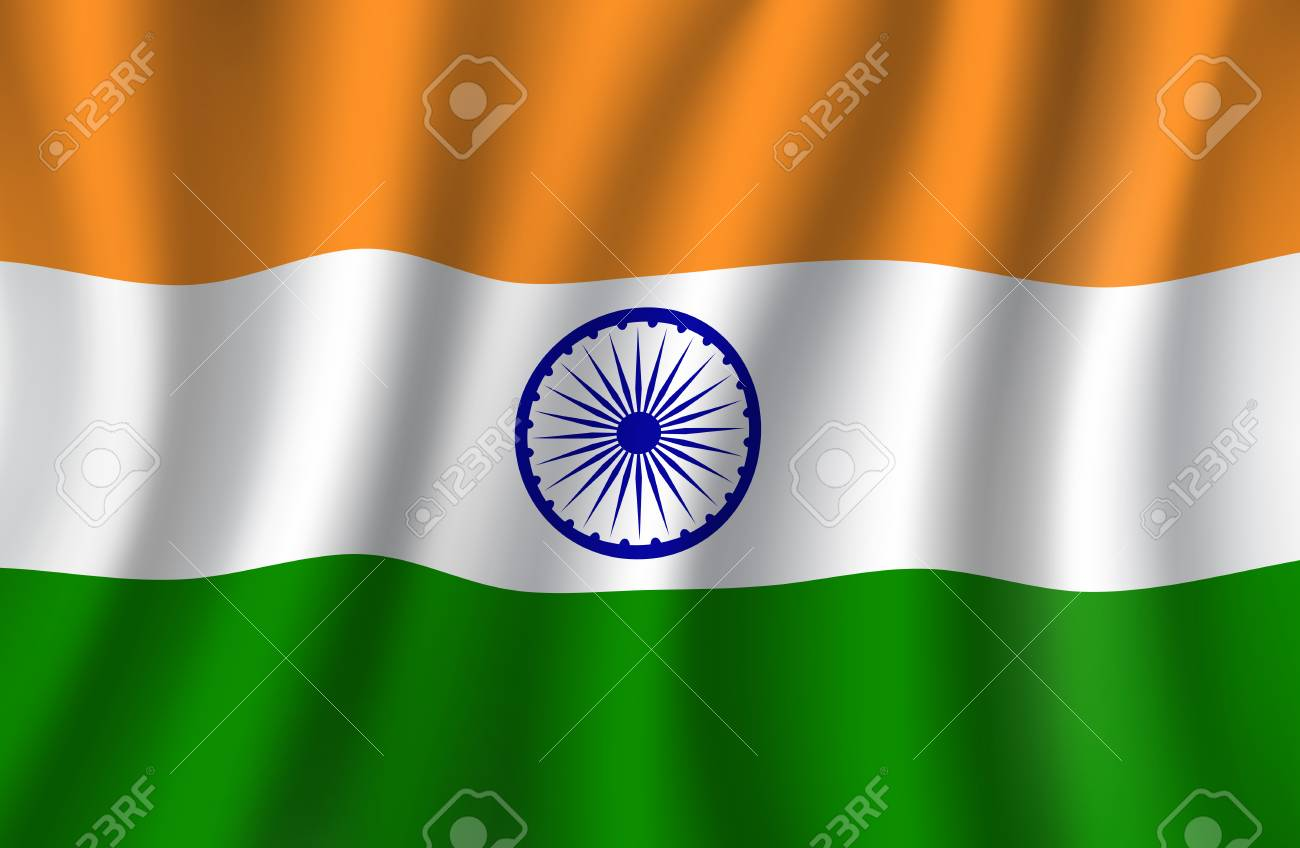 Drapeau India Indian Flag 3d National Banner Of India