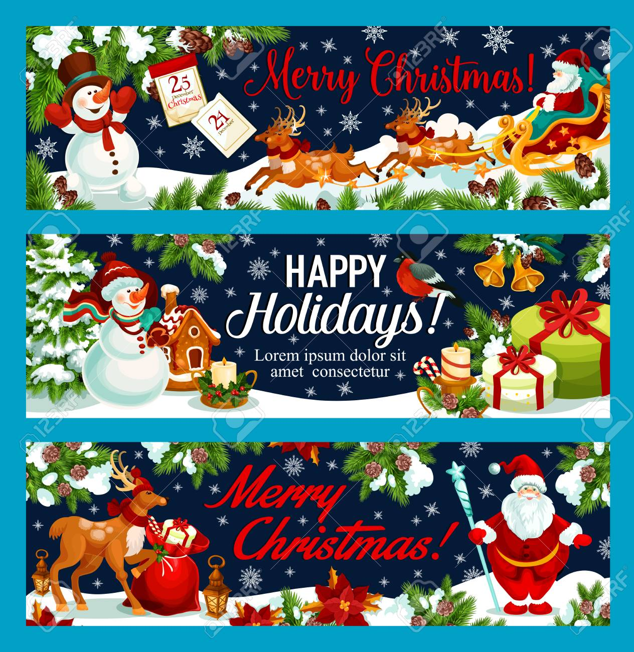 Fun Merry New Year Happy Holidays Wishes Family Happy Holidays Wishes Happy Holidays Greeting Banners New Year Winter Vector Santa Merry French Happy Holidays Greeting Banners inspiration Happy Holidays Wishes