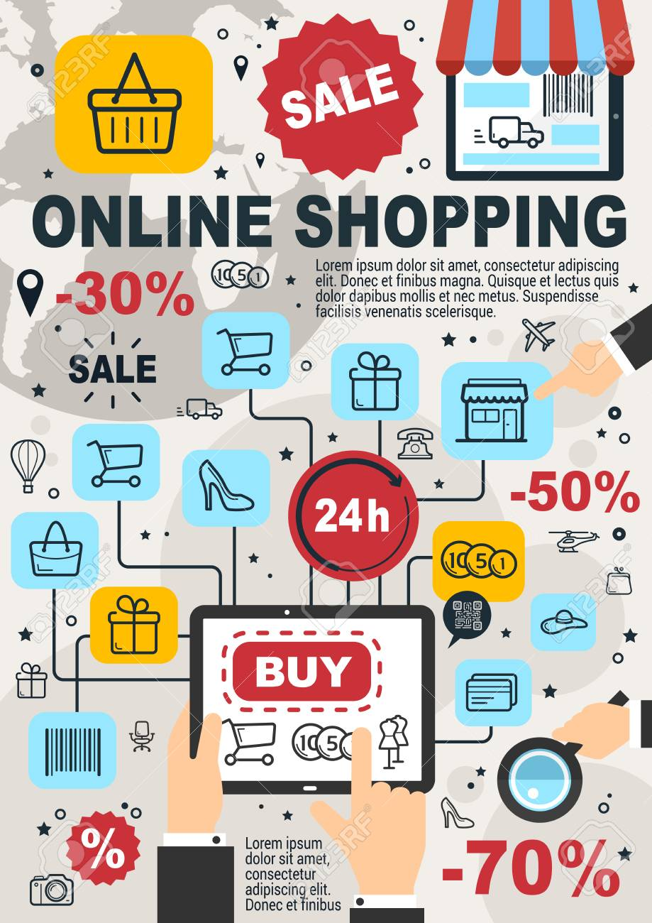 Poster Online Kaufen Online Shopping And Internet Store Poster For Web Shop Orders... Royalty Free Cliparts, Vectors, And Stock Illustration. Image 106482240.