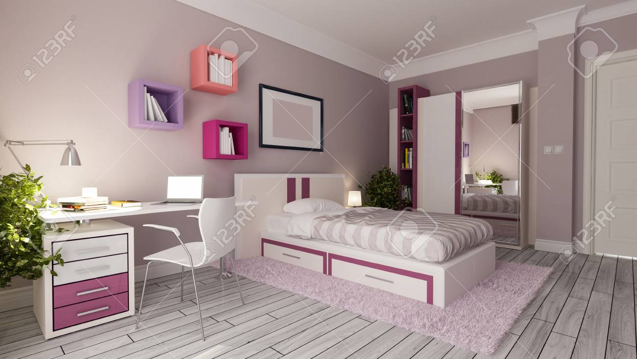 Schlafzimmer Idee Stock Photo