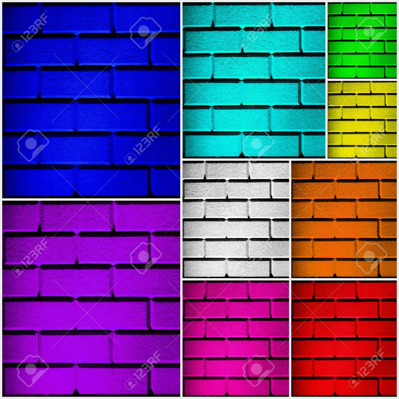 Bilder Collage Wand Stock Photo