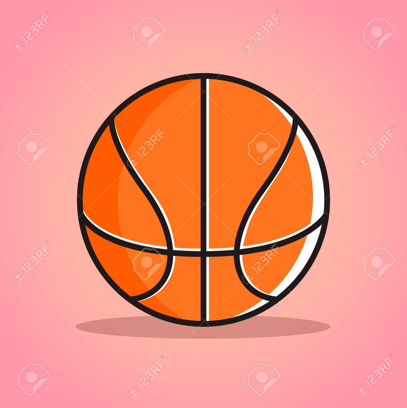 Basketball Ball Cartoon Basketball Ball Vector