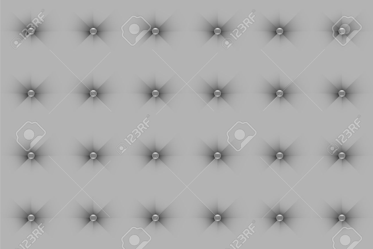 Sofa Texture Vector Silky Silver Sofa Texture Background With Glossy Button Tufted