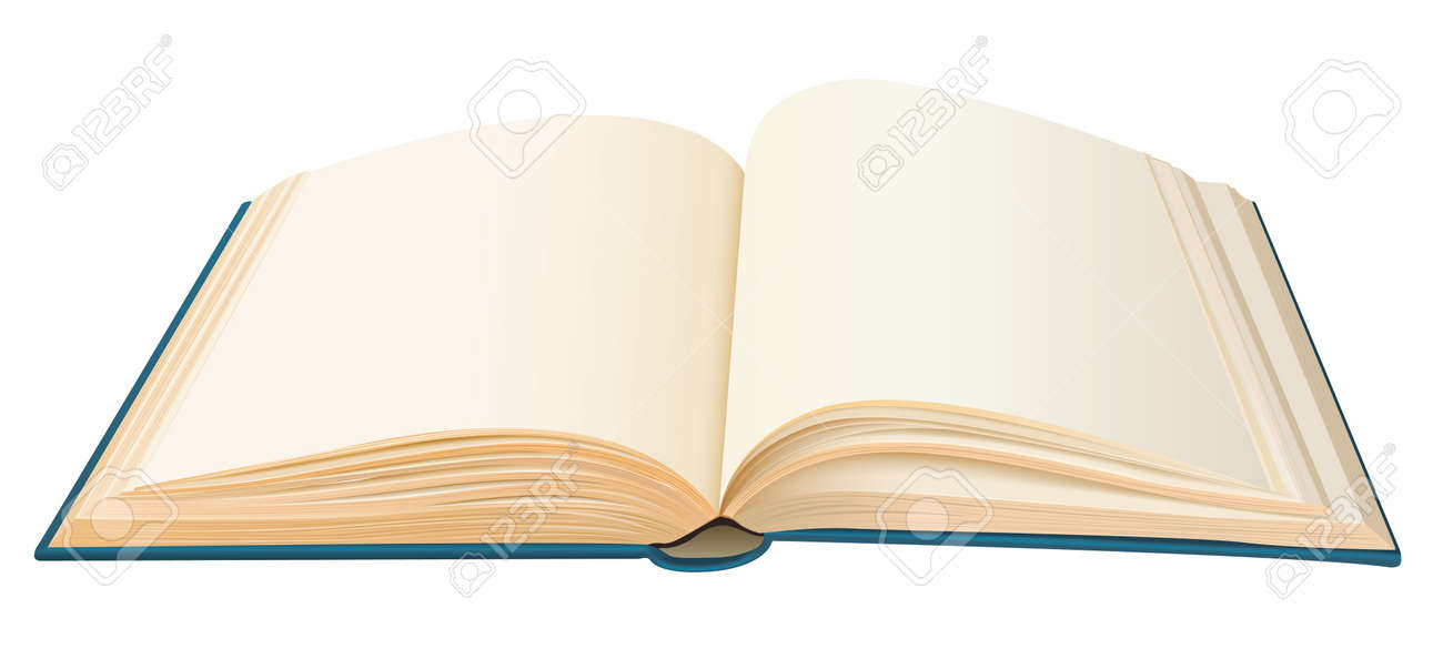 Realistic Opened Book With Empty Pages Vector Royalty Free Cliparts - opened book
