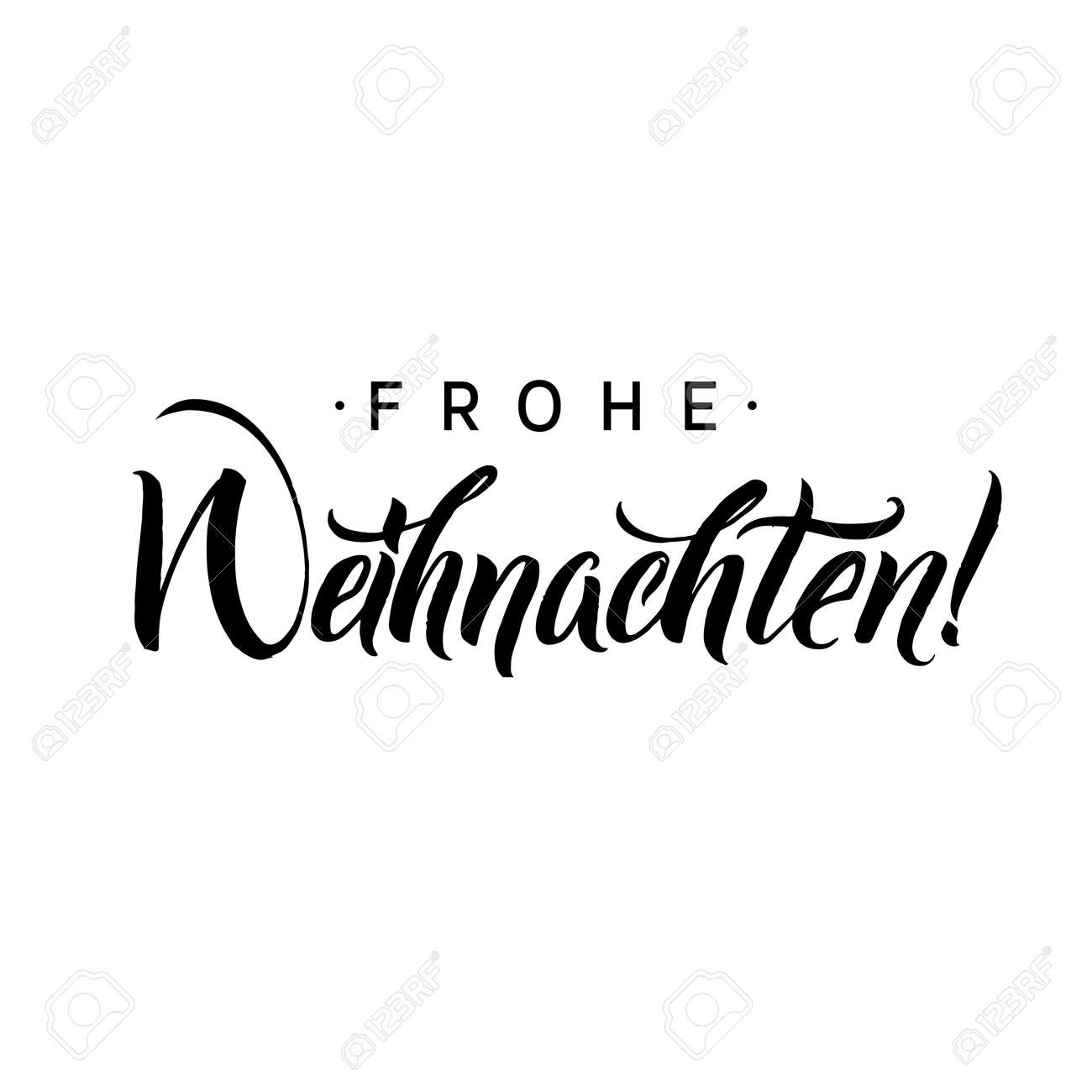 Font Kalligraphie Frohe Weihnachten Merry Christmas Calligraphy In German Greeting