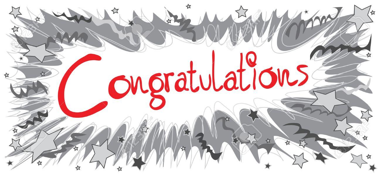Congratulations Word Red Color Graphic Design Pencil Sketch Boom
