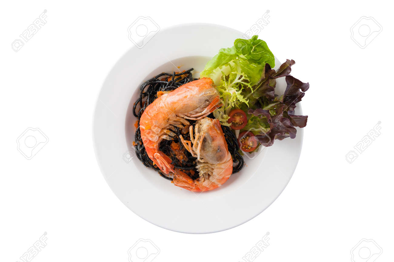 Schwarze Pasta Stock Photo