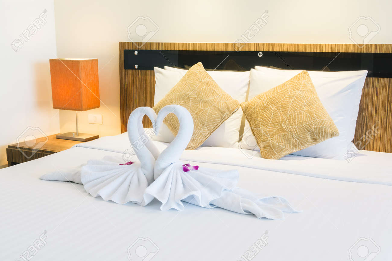 Vintage Schlafzimmer Deko Stock Photo
