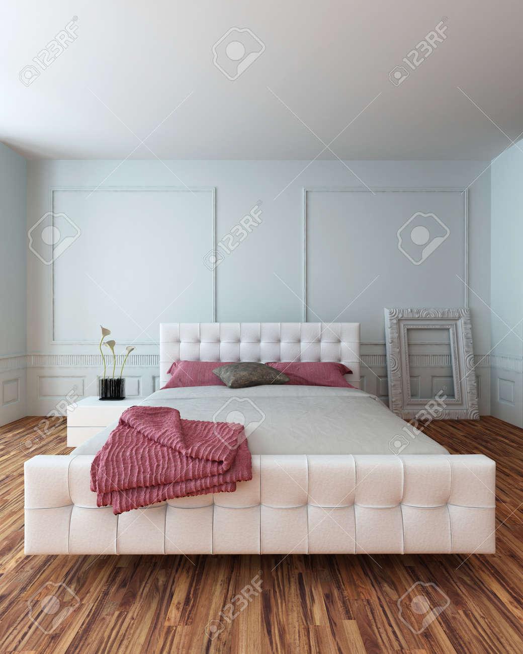 Chambre Blanc Et Rouge | Idee Meuble Chambre Design Lit Blanc Rouge ...