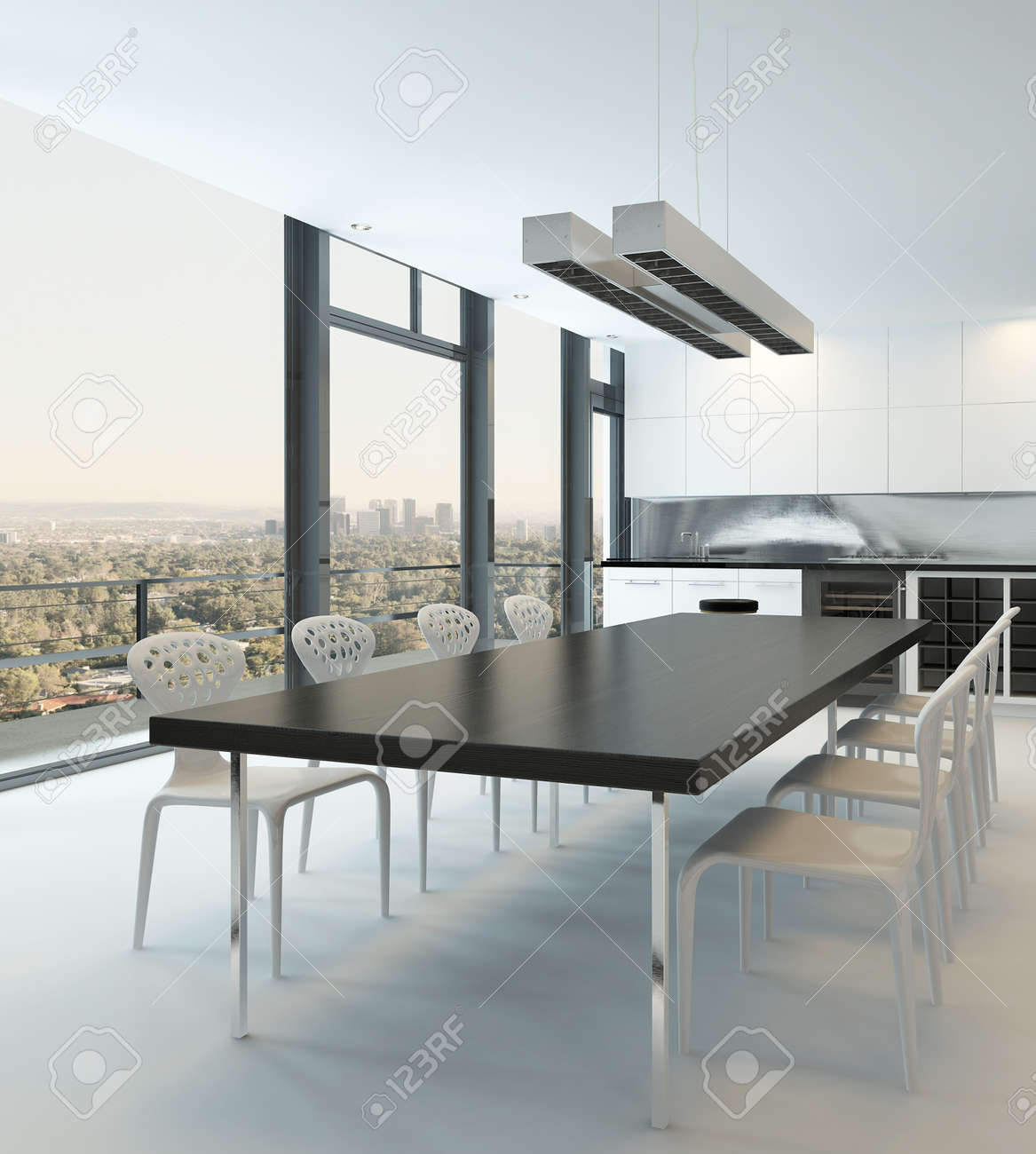 Esstisch Esszimmer Stock Photo