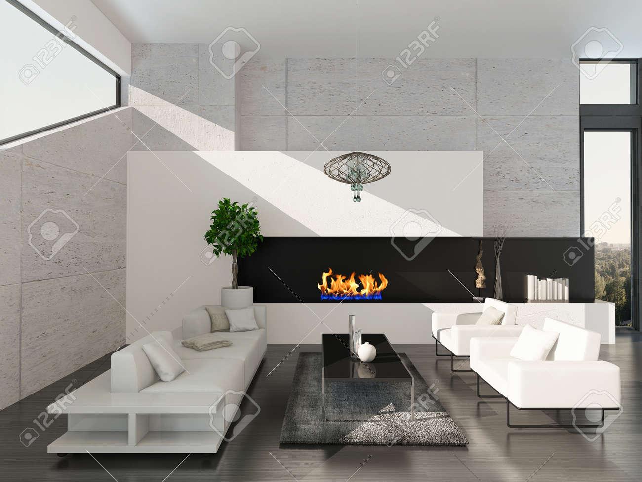 Cheminee Tres Moderne | Cheminée Suspendue Moderne 30 Idées Pour Une ...