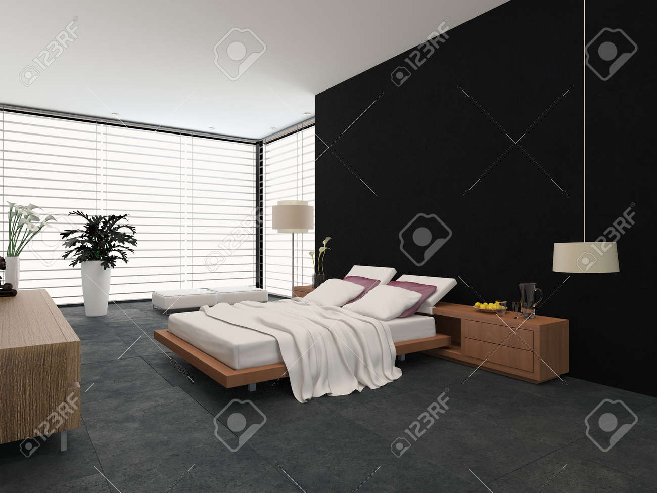 Stehlampe Schlafzimmer Stock Photo