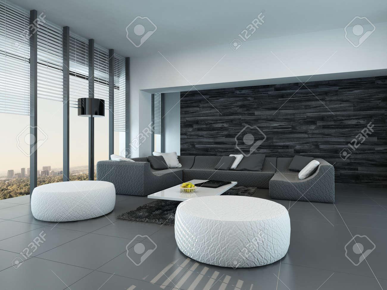 Salotto Moderno Bianco E Grigio : Soggiorno grigio soggiorno bianco e grigio ecco 15 idee ispiratevi