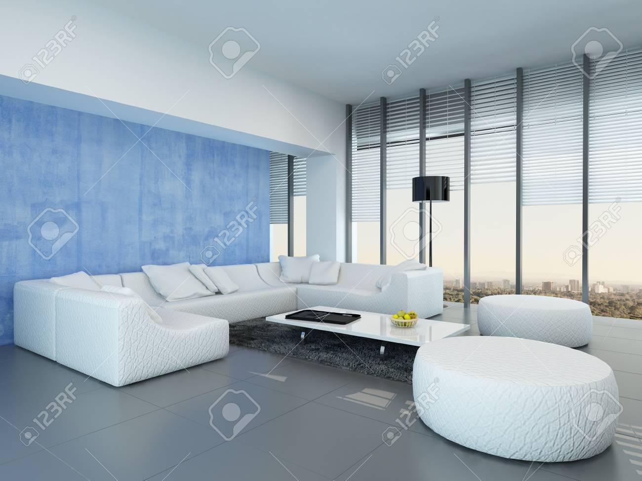 Decoration Interieur Gris Et Bleu   Beautiful Deco Salon Noir Blanc ...