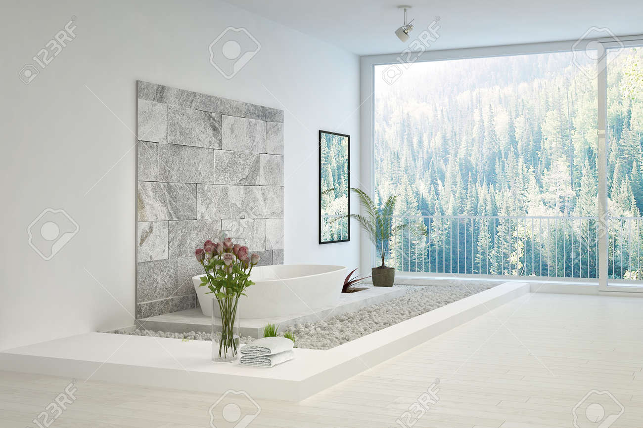 Badezimmer Stein Stock Photo