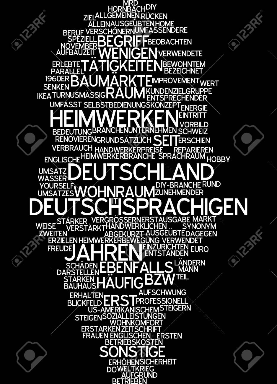 Do It Yourself Zeitschrift Word Cloud Handyman
