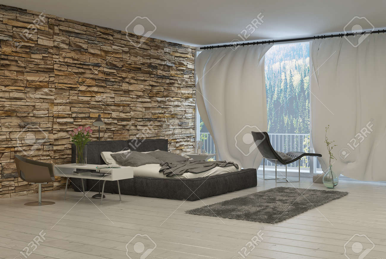 Schlafzimmer Wald Stock Photo