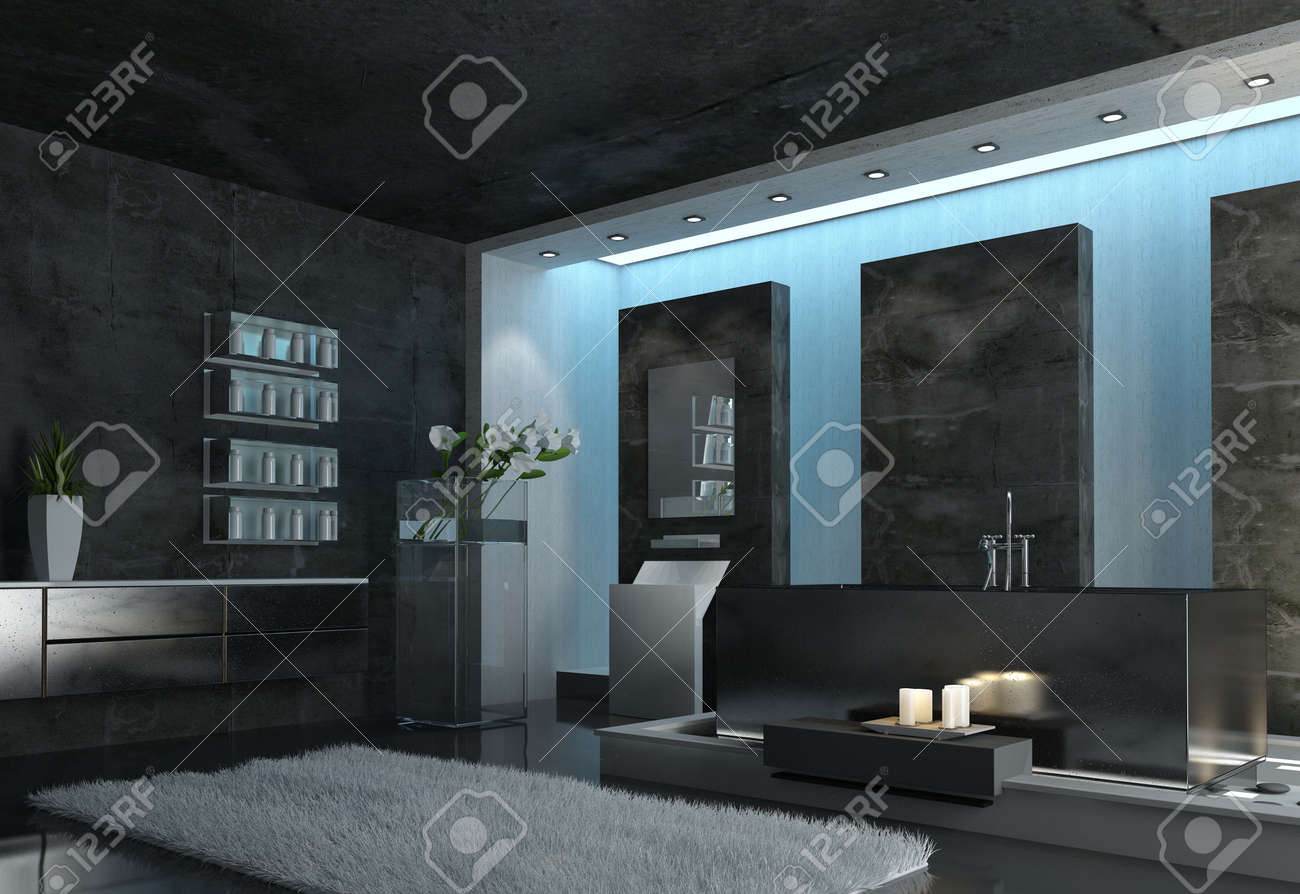 Bilder Badezimmer Grau Stock Photo