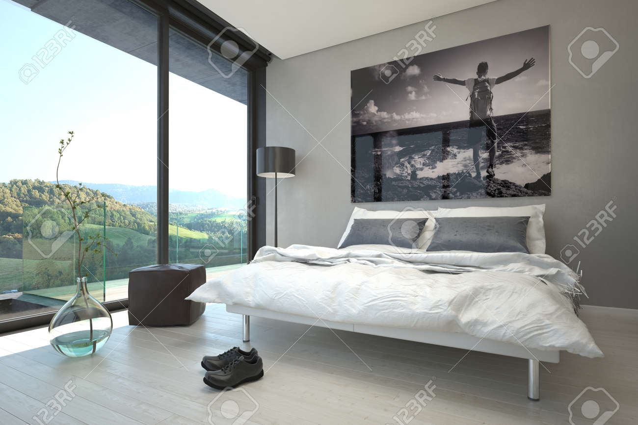 Design Schlafzimmer Lampe Stock Photo