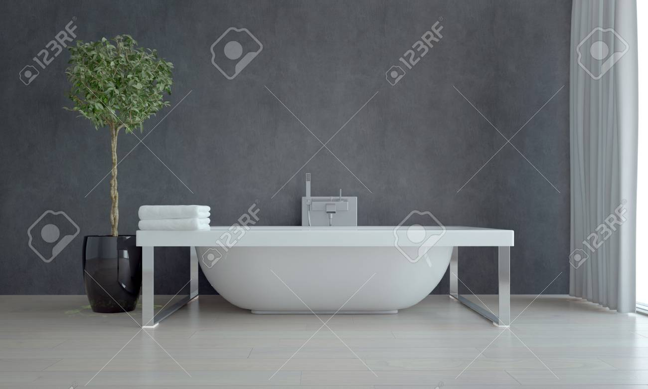 Badezimmer Wand Dekorieren Stock Photo