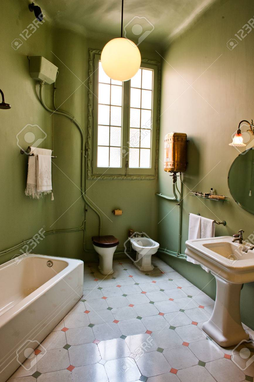 Badezimmer Retro-stil Stock Photo